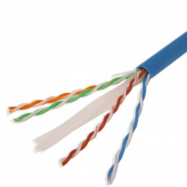 Cat6 UTP Bulk Ethernet Network Cable 23AWG 550Mhz Pure Copper Riser Blue, White, Yellow, Gray, Green, Red 1000ft