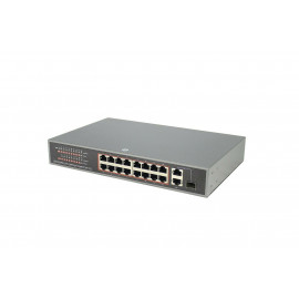 16 Port POE SWITCH with 2 Gigabit Uplink and 1 SFP