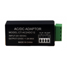 AC / DC convertor, 24AC to 12DC, 1.5A output,short circuit protection, Overload