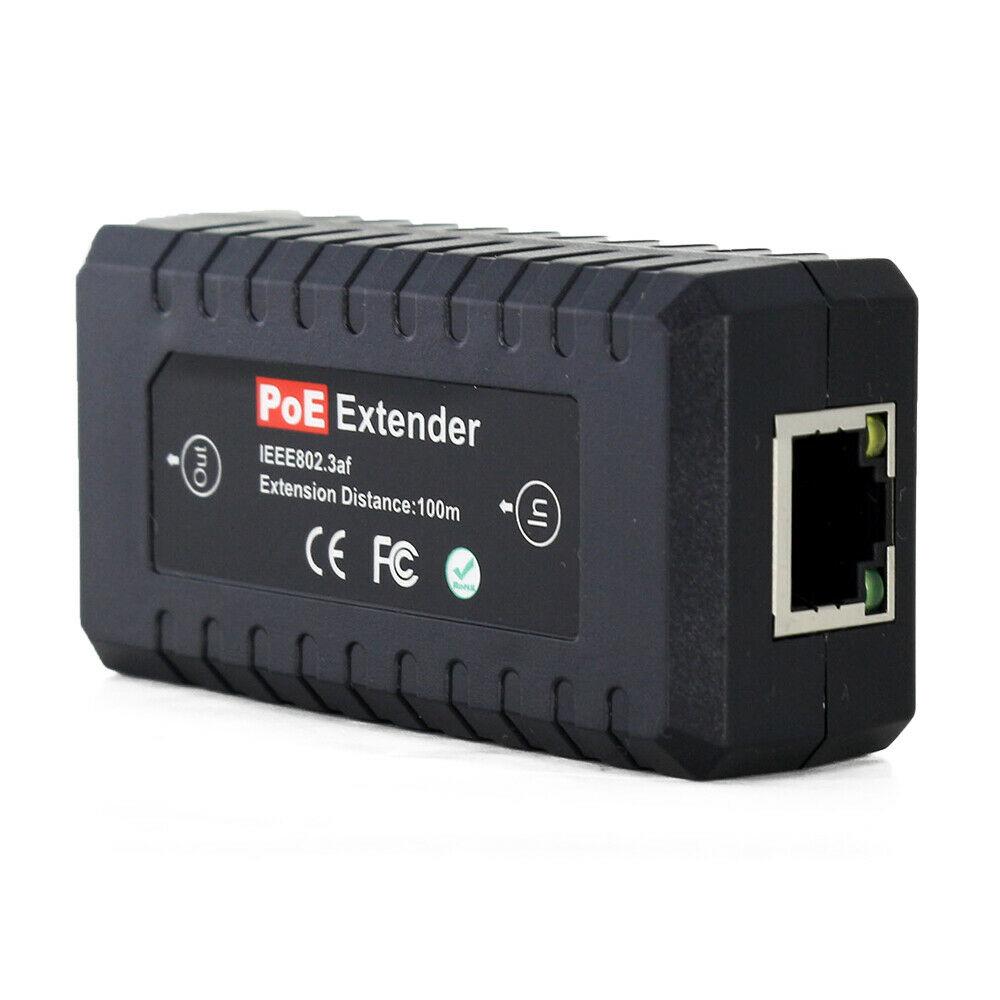 1 channel 10/100M PoE Extender , 300 ft, indoor