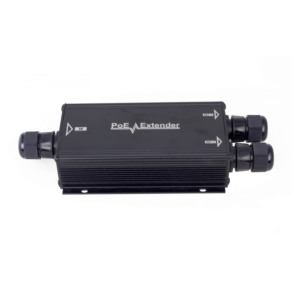 PoE extender 1 In 2 Out Waterproof PoE outdoor Aluminum Case 802.3at,Output