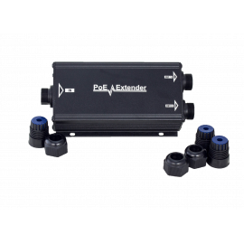 PoE extender Waterproof PoE outdoor Aluminum Case with Gigabyte ,1 In 2 Out