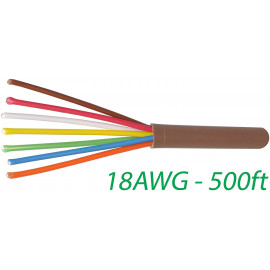 18/7 Thermostat Wire 18 Gauge Solid Copper CMR Heating HVAC AC Cable 500FT