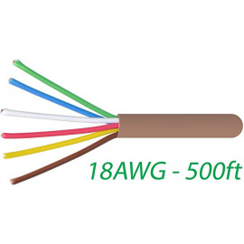 18/6 Thermostat Wire 18 Gauge Solid Copper CMR Heating HVAC AC Cable 500FT