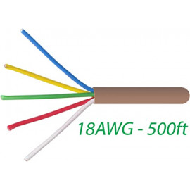 18/5 Thermostat Wire 18 Gauge Solid Copper CMR Heating HVAC AC Cable 500FT