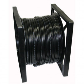 RG59 Siamese Coaxial Cable 500ft 20AWG+18/2AWG CCTV Security Camera Wire Black
