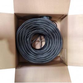 RG6 Quad Shield Coaxial Cable 18 AWG 500ft Bulk Coax Satellite TV Black, White