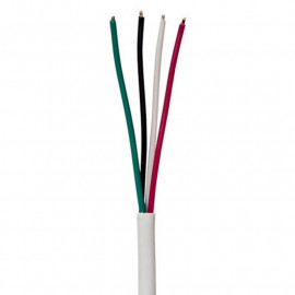 Security Burglar Alarm 18/4 Control Cable 500FT Stranded White