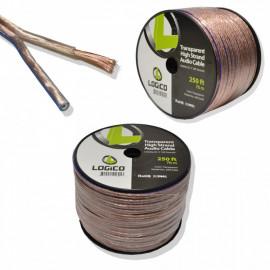 Car Home Audio Speaker Wire 10/2 Gauge Bulk Audio Speaker Cable Transparent 250 ft