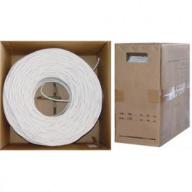 RG6 Quad Shield Coax Cable, 18 AWG, Reel in Box, 500ft