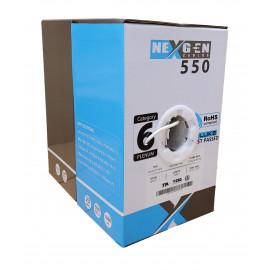 Cat6 Plenum 1000ft Bulk Ethernet Cable | 23AWG, UTP, Plenum CMP Rated | White