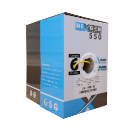 Cat6 Plenum 1000ft Bulk Ethernet Cable | 23AWG, UTP, Plenum CMP Rated | Yellow
