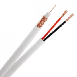 RG59 + Power Siamese Cable CCTV Wire RG59/U, Pull-Out Box, 500ft, 1000ft