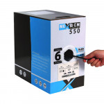 Cat6 Plenum 1000ft Bulk Ethernet Cable | 23AWG, UTP, Plenum CMP Rated | Black
