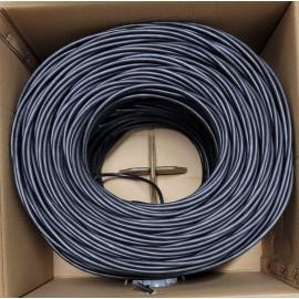 Cat6 Plenum Pure Copper UTP 4-pairs Network CMP 1000Ft 23AWG Solid  | Color Blue