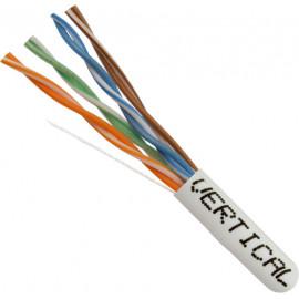 Cat5E, 24AWG, UTP, 8C Solid Bare Copper, 350MHz, Riser Rated, PVC Jacket, White,1000ft. Pull Box