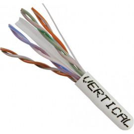 Cat6, 23AWG, UTP, 8C Solid Bare Copper, 550MHz, Riser Rated, PVC Jacket 1000ft. White