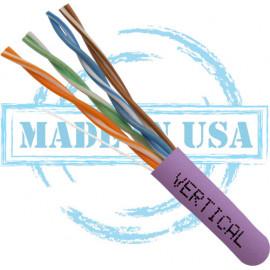 Cat6 Plenum Solid Bare Copper CMP Purple – UL Listed