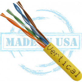 Cat6 Plenum CMP  Solid Bare Copper, Yellow – UL Listed