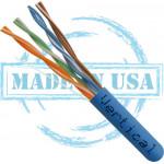 CAT5E Plenum Solid Bare Copper 1000ft UL Listed Pull Box Blue