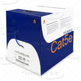 Cat5e Riser Bare Copper | 1000ft Cable 24AWG, 4 Pair Solid Conductors UTP | Blue