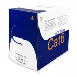 Cat6 Riser Bare Copper 1000ft Bulk Ethernet Cable 23AWG, UTP  UL Listed Blue