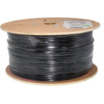 Outdoor 1000Ft Cat5e 24AWG CCA UTP 4-pairs Network LAN Cable Direct Burial UV Rated Waterproof