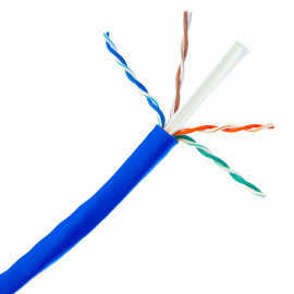 1000FT CAT6 UTP solid Network Ethernet LAN Cable,Bulk wire, PVC Bare Copper, Blue, White