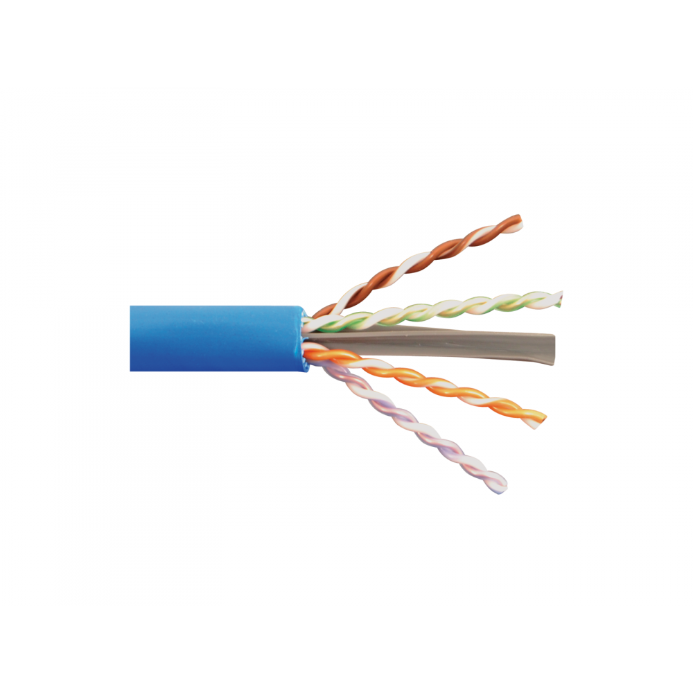 1000Ft Cat6A 23AWG CMR RISER Bare Pure Copper UTP Solid 4-pairs Network LAN Cable, Black, Blue, Gray, White