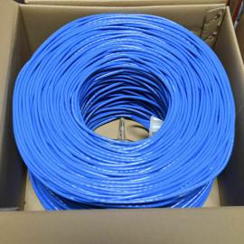 1000FT CAT5e UTP Network Ethernet LAN Cable, Bulk wire, White, Blue,